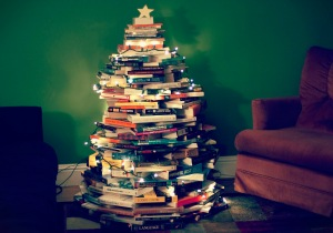 bookchristmastree